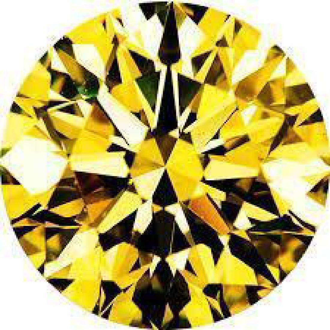 7ct Brilliant Cut Round Canary BIANCO Diamond