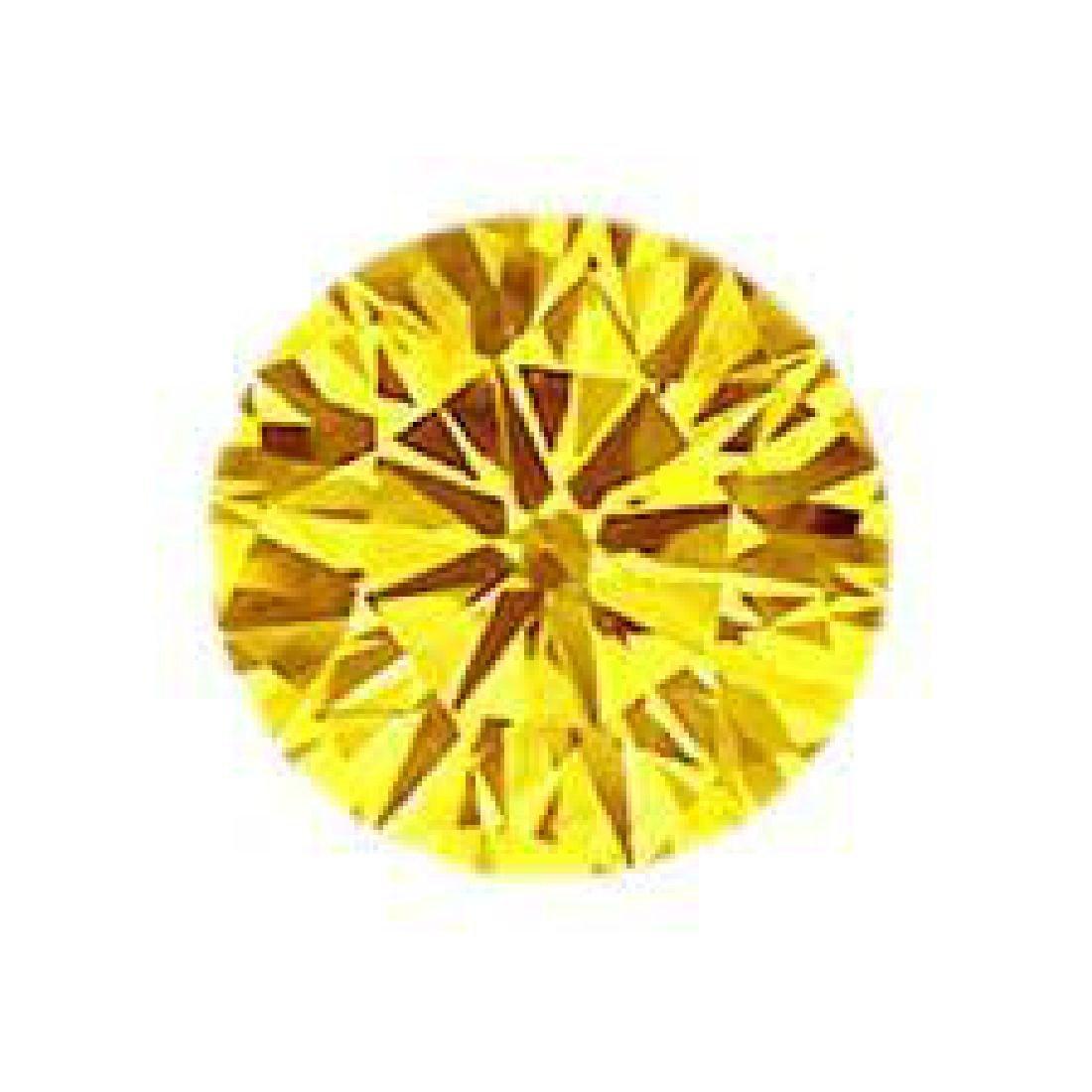 7ct Brilliant Cut Round Canary BIANCO Diamond - 2