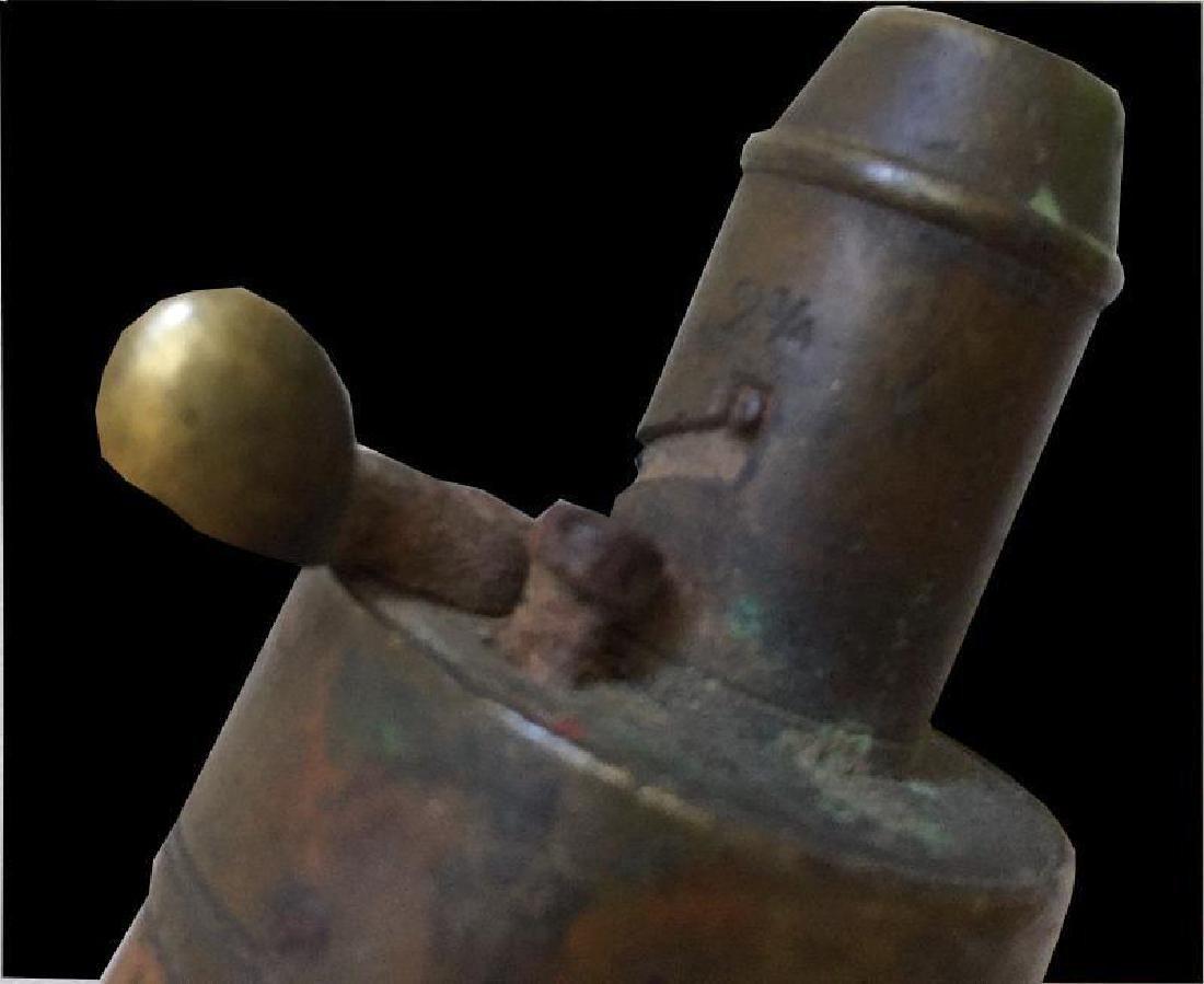Vintage G & J.W. Hawksley Powder Flask English Brass - 5