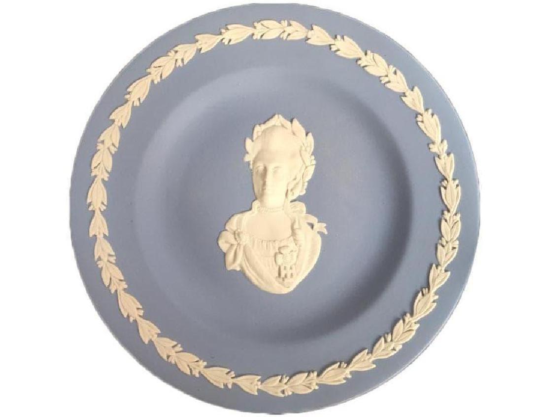 Wedgewood Blue Jasperware Queen Victoria Plate
