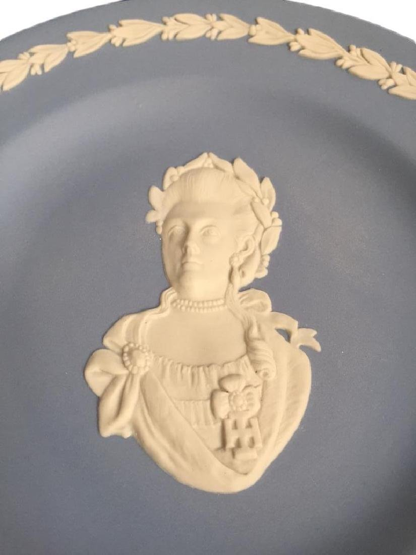 Wedgewood Blue Jasperware Queen Victoria Plate - 3