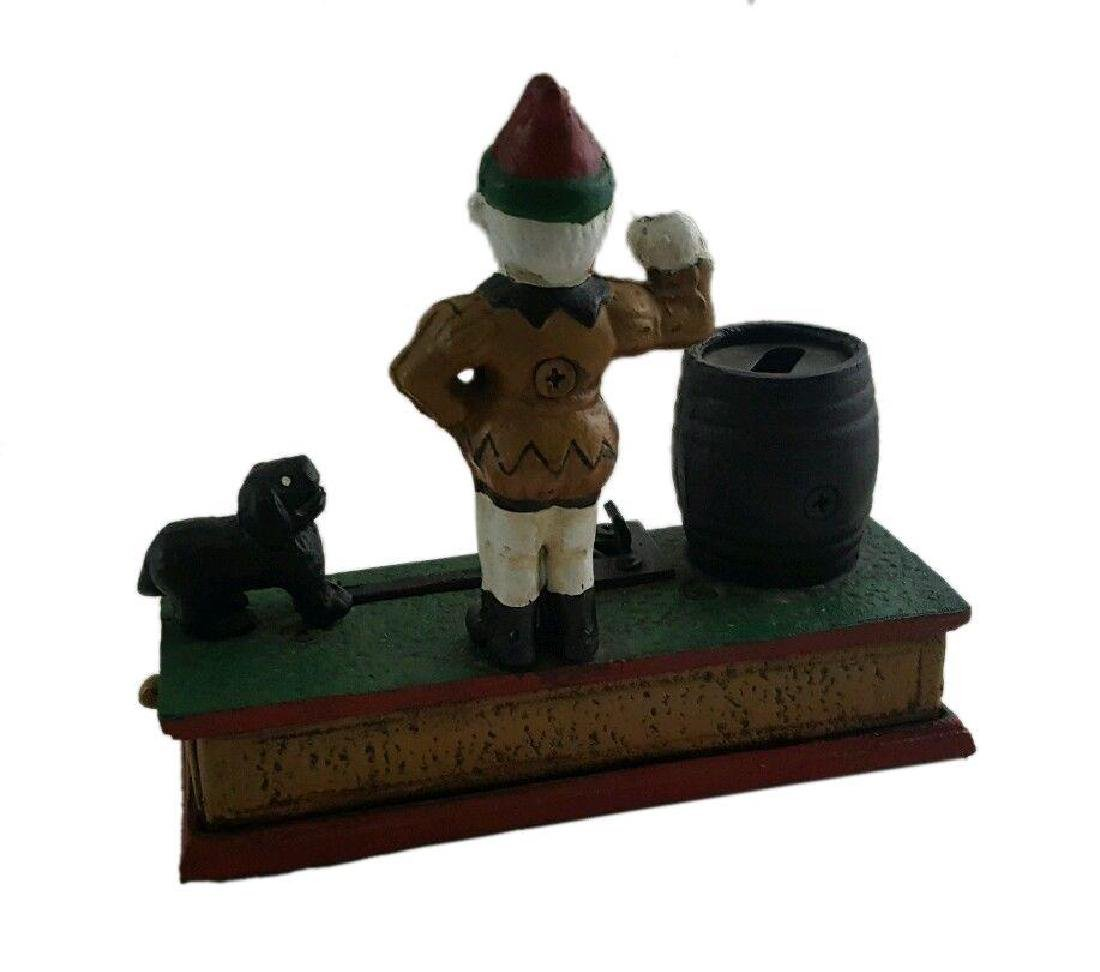 Trick Dog Cast Iron Mechanical Coin Money Bank Vintage - 3