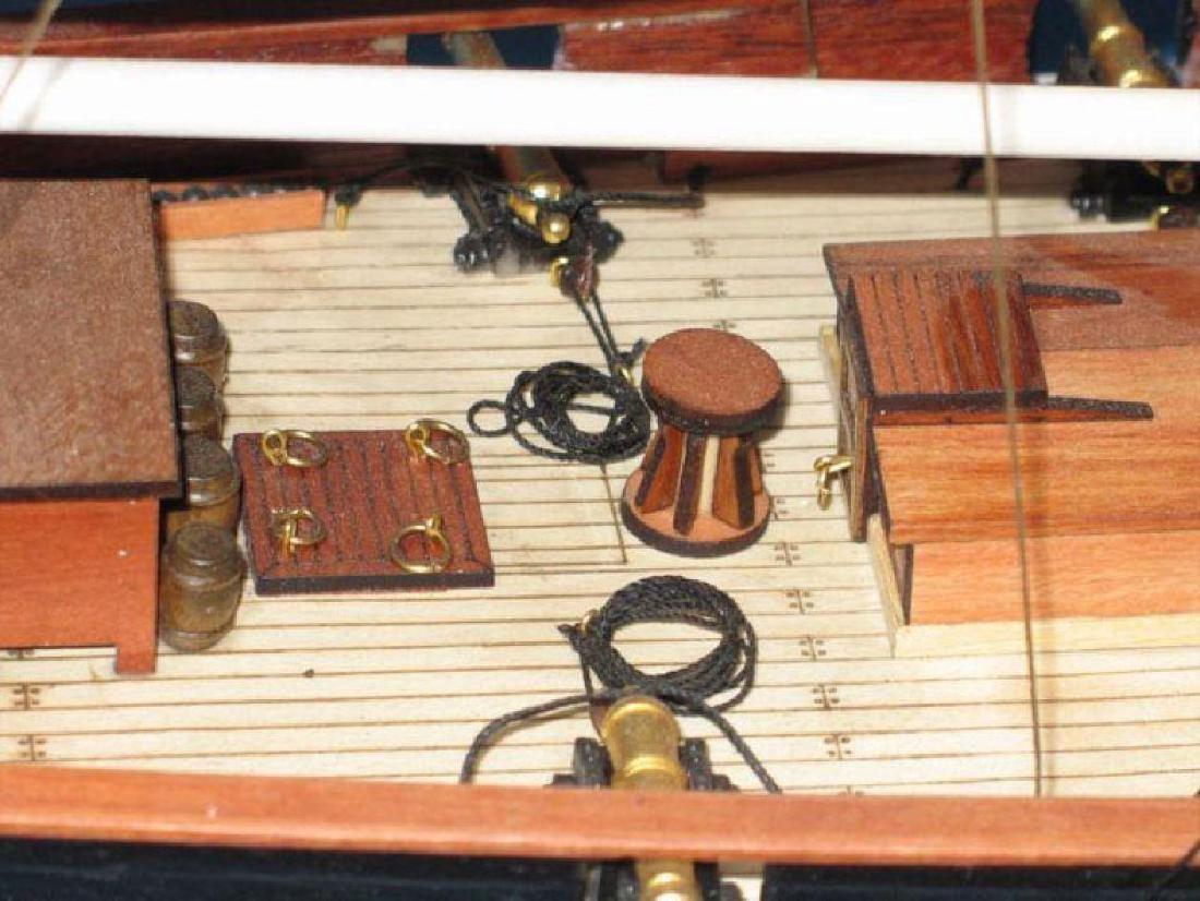 "Wooden Baltimore Clipper Harvey Tall Model Ship 32"" - 10"