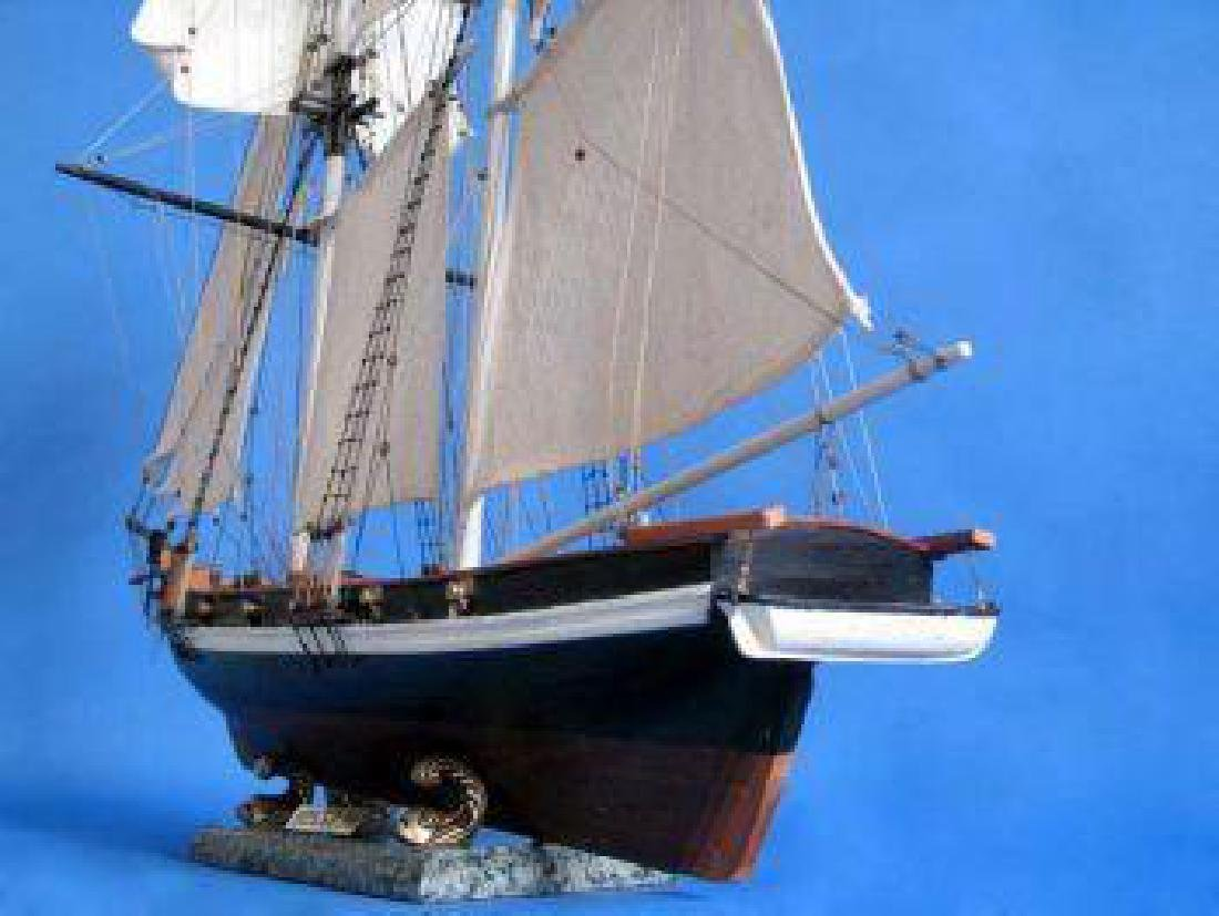 "Wooden Baltimore Clipper Harvey Tall Model Ship 32"" - 2"