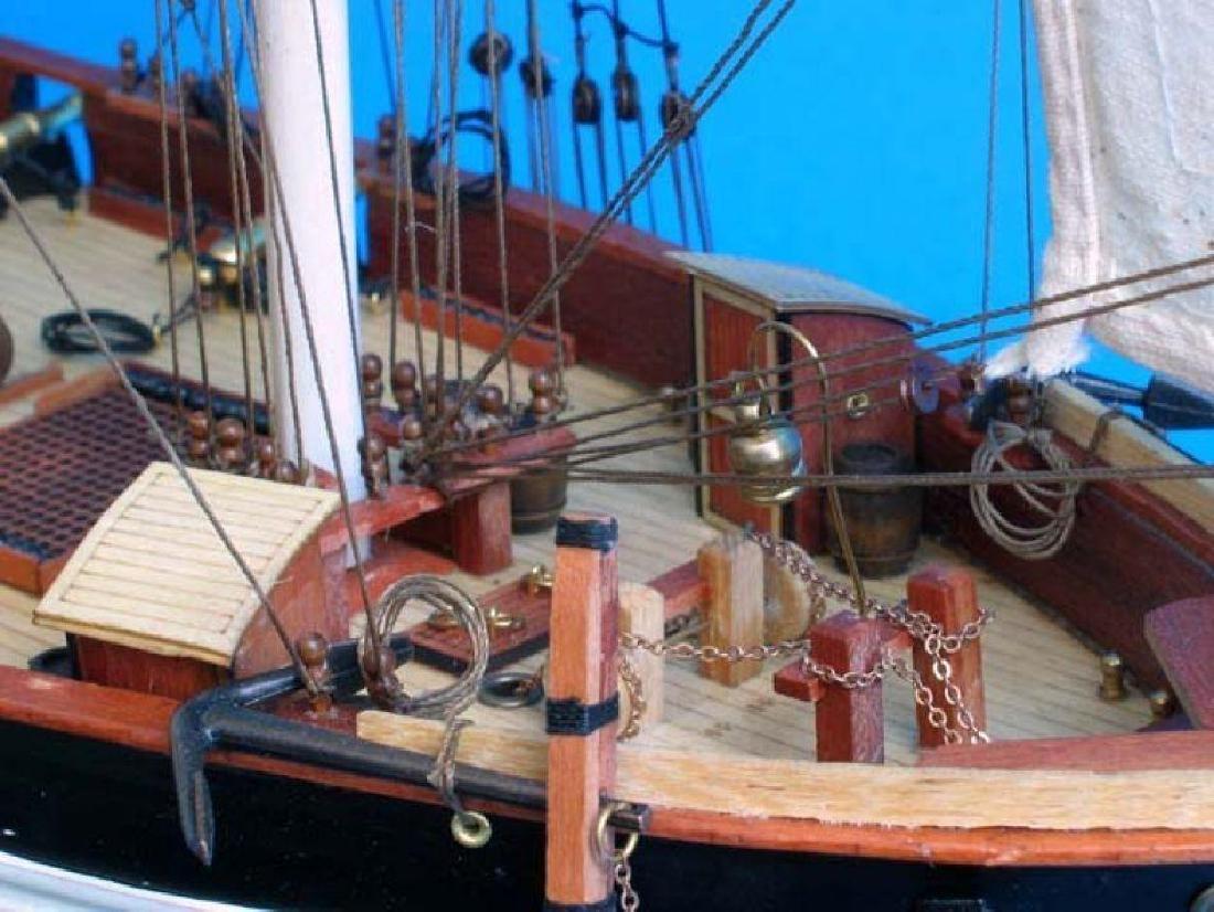 "Wooden Baltimore Clipper Harvey Tall Model Ship 32"" - 5"