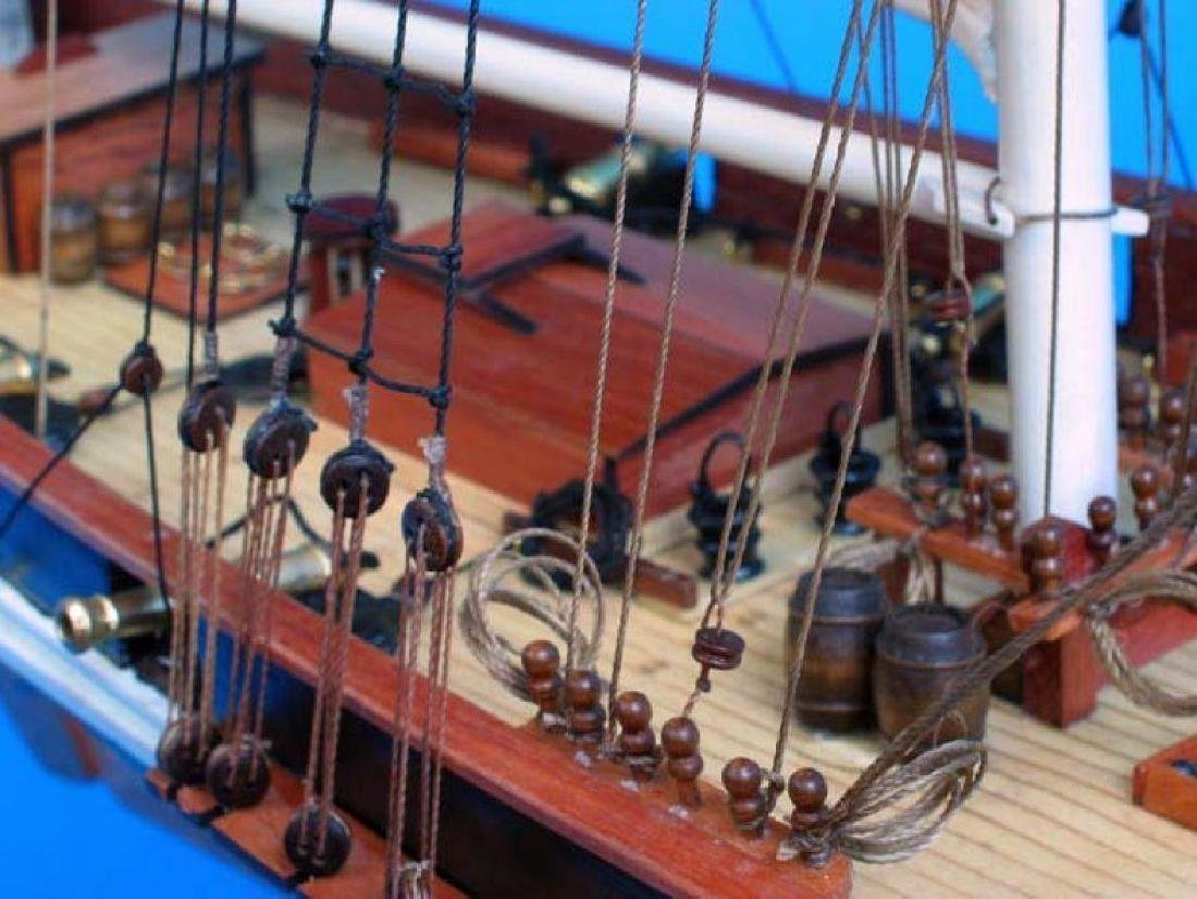 "Wooden Baltimore Clipper Harvey Tall Model Ship 32"" - 6"
