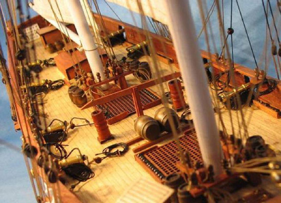 "Wooden Baltimore Clipper Harvey Tall Model Ship 32"" - 7"