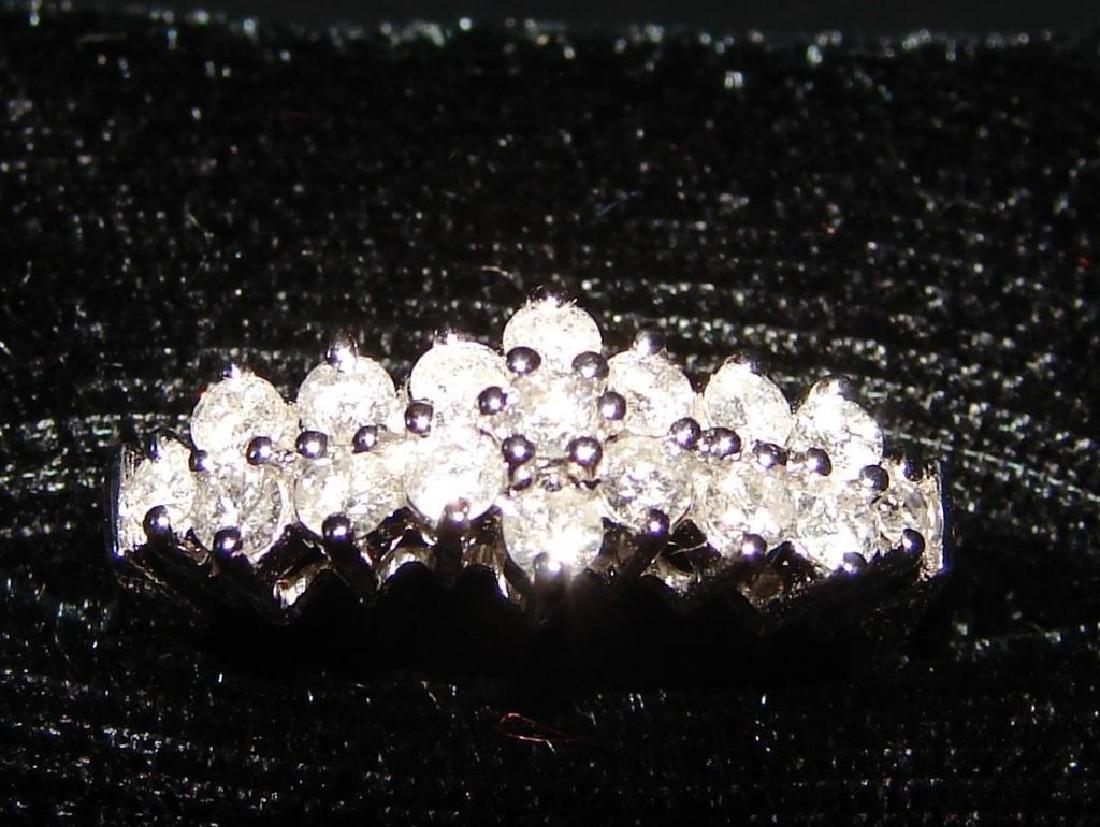 14kt White Gold & Diamond Anniversary Ring - 2