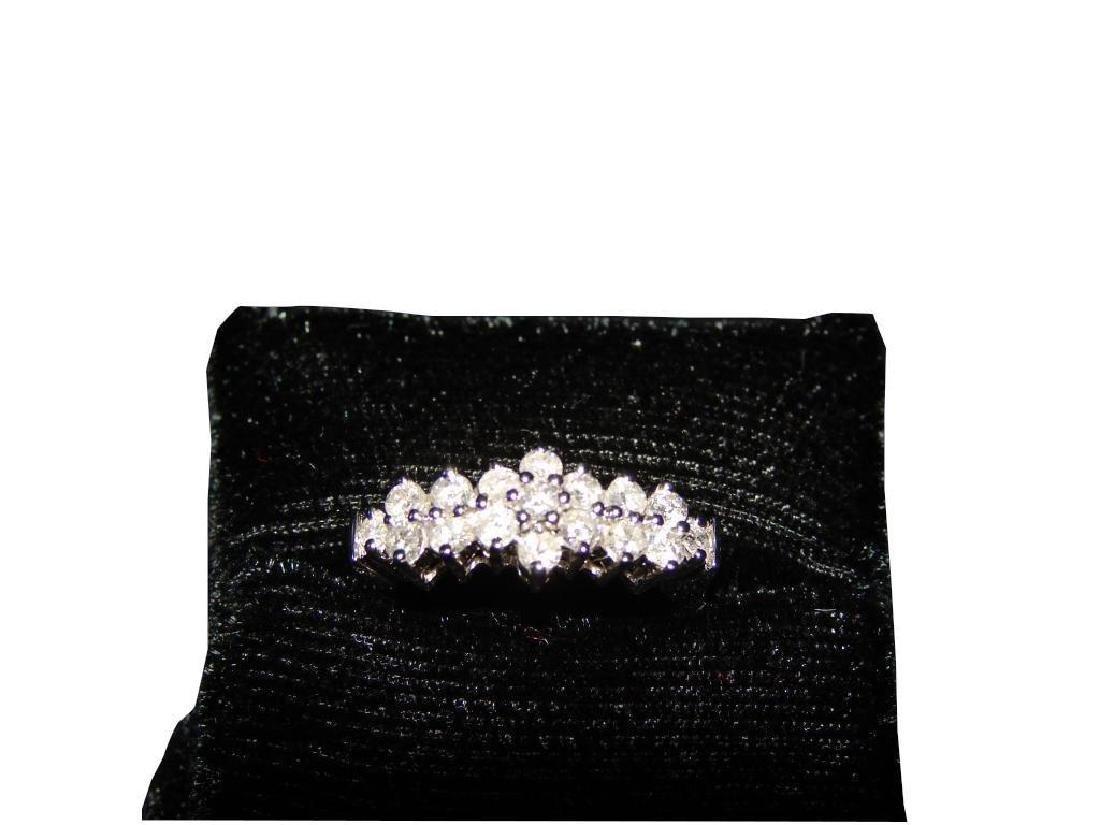 14kt White Gold & Diamond Anniversary Ring - 3