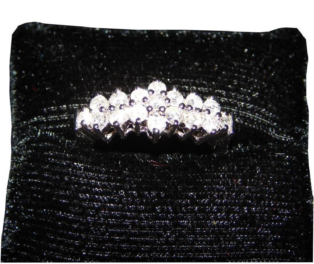 14kt White Gold & Diamond Anniversary Ring - 4