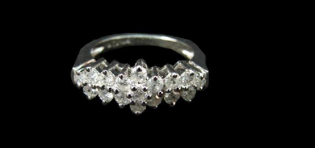 14kt White Gold & Diamond Anniversary Ring - 5