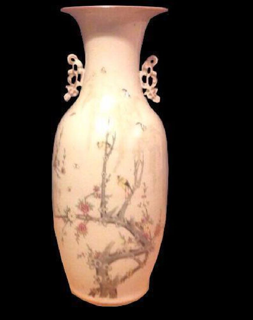 Chinese Birds Tree Blossoms Butterflies Large Porcelain