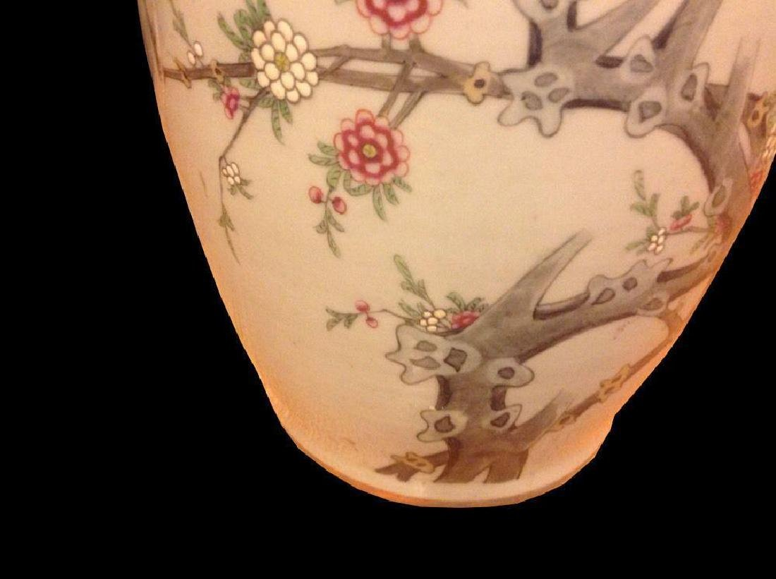 Chinese Birds Tree Blossoms Butterflies Large Porcelain - 2