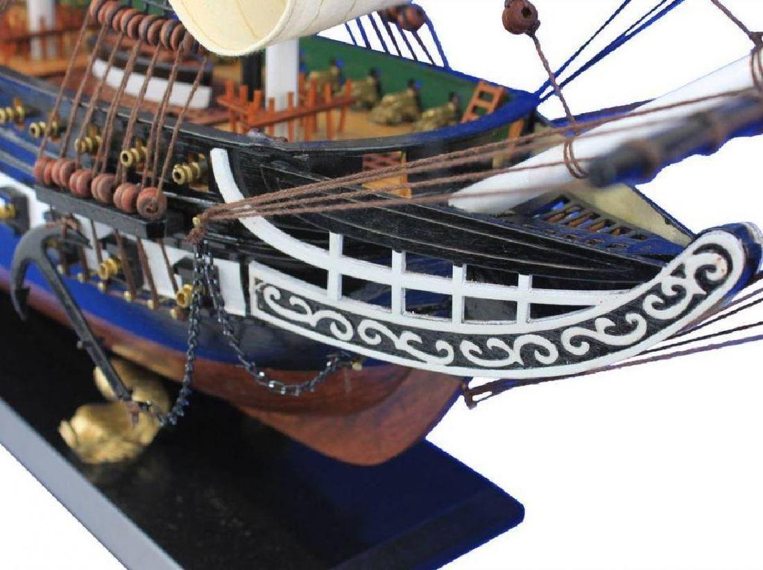 "Wooden USS Constitution Tall Model Ship 24"" - 2"