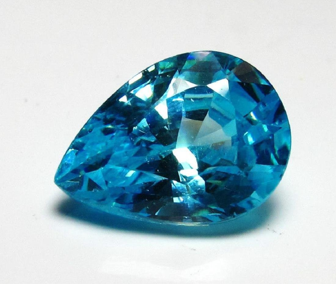 5.5 Pear Cut Blue BIANCO Diamond