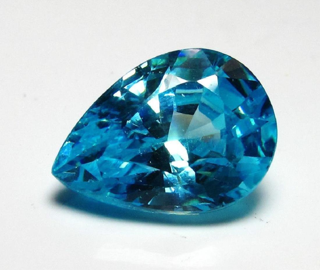 5.5 Pear Cut Blue BIANCO Diamond