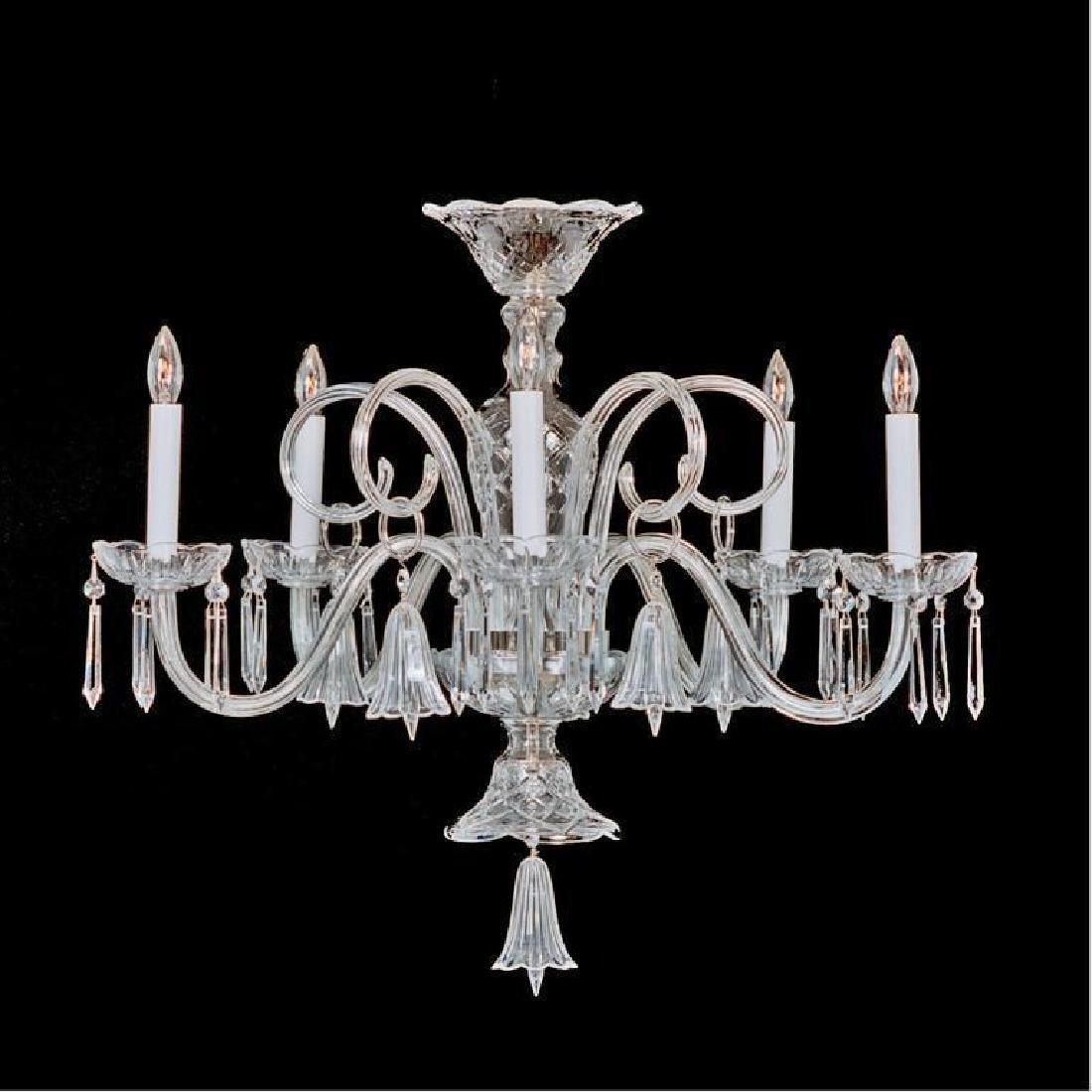 Crystal & Nickel Five Light Bell Chandelier