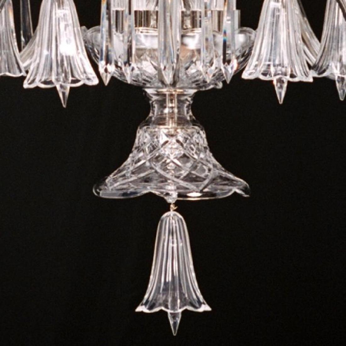 Crystal & Nickel Five Light Bell Chandelier - 3