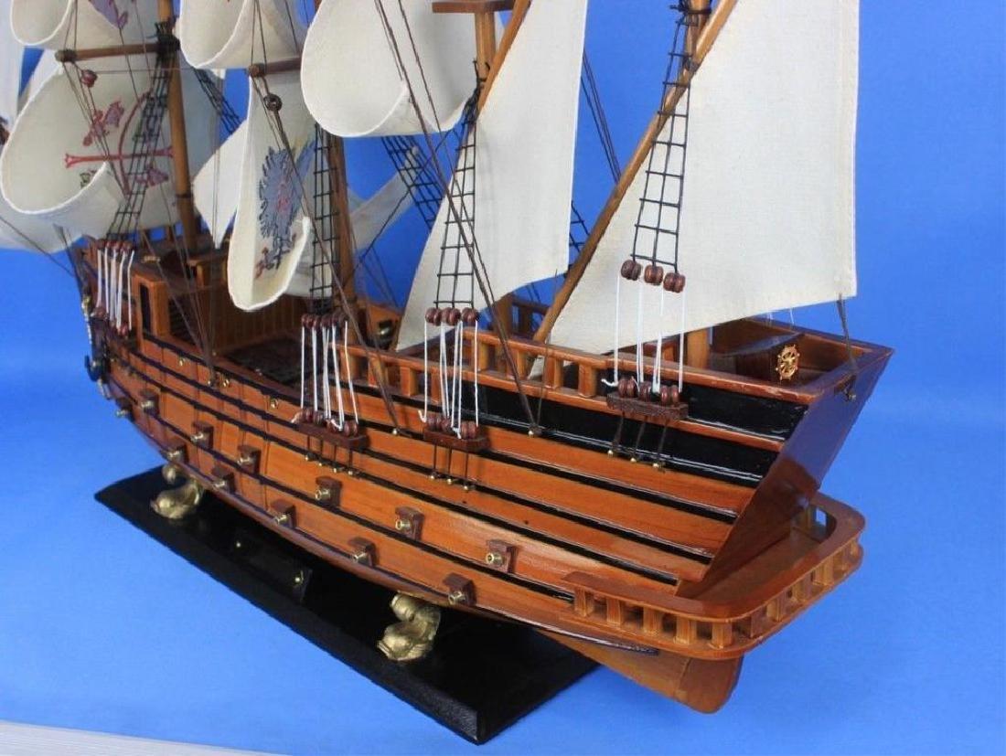 "Wooden Spanish Galleon Model 34"" Ship - 3"