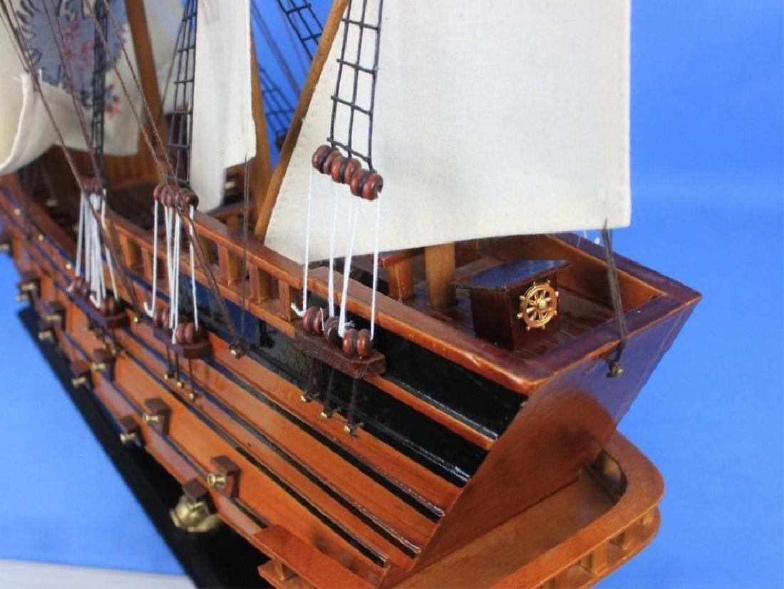 "Wooden Spanish Galleon Model 34"" Ship - 5"
