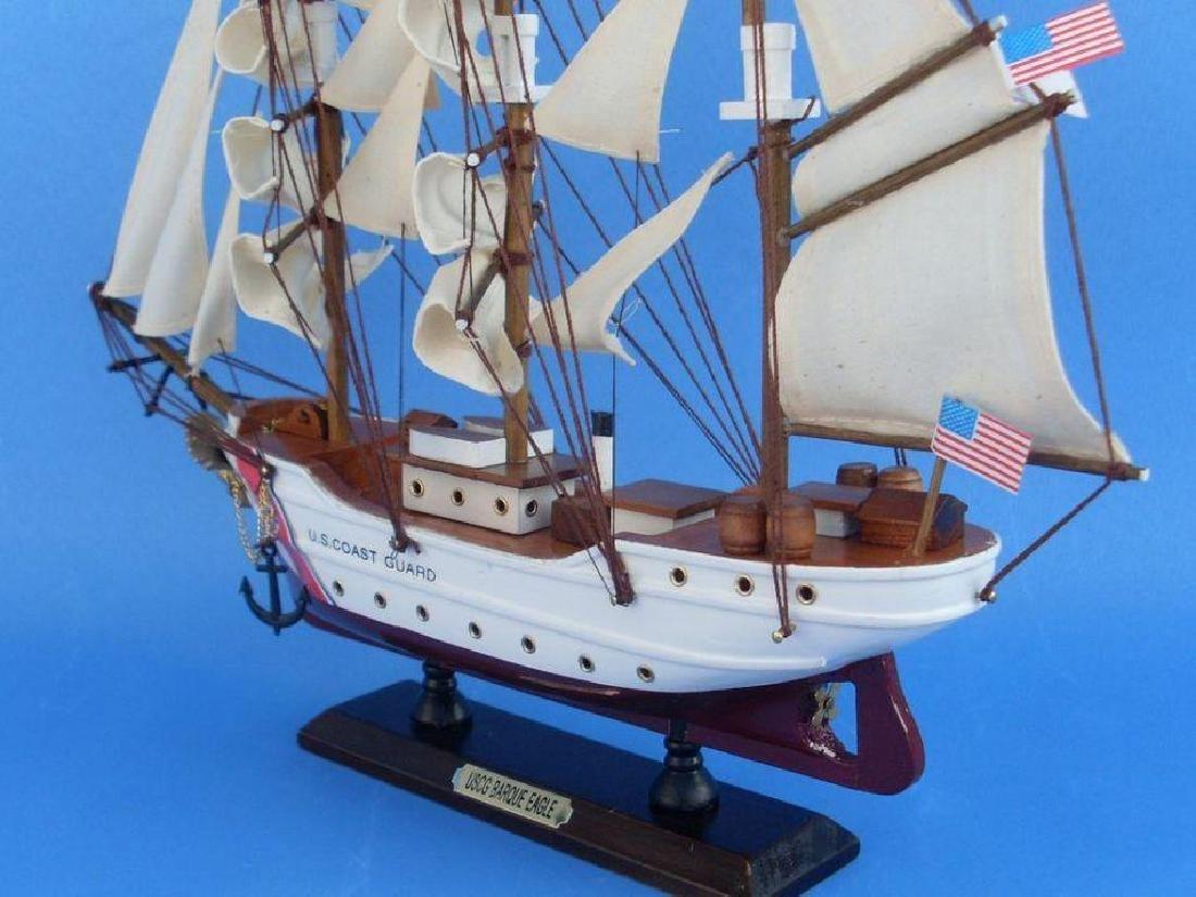 Wooden United States Coast Guard USCG Eagle Model Ship - 10