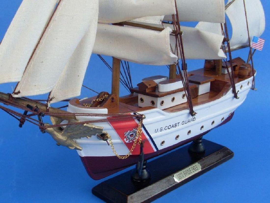 Wooden United States Coast Guard USCG Eagle Model Ship - 2