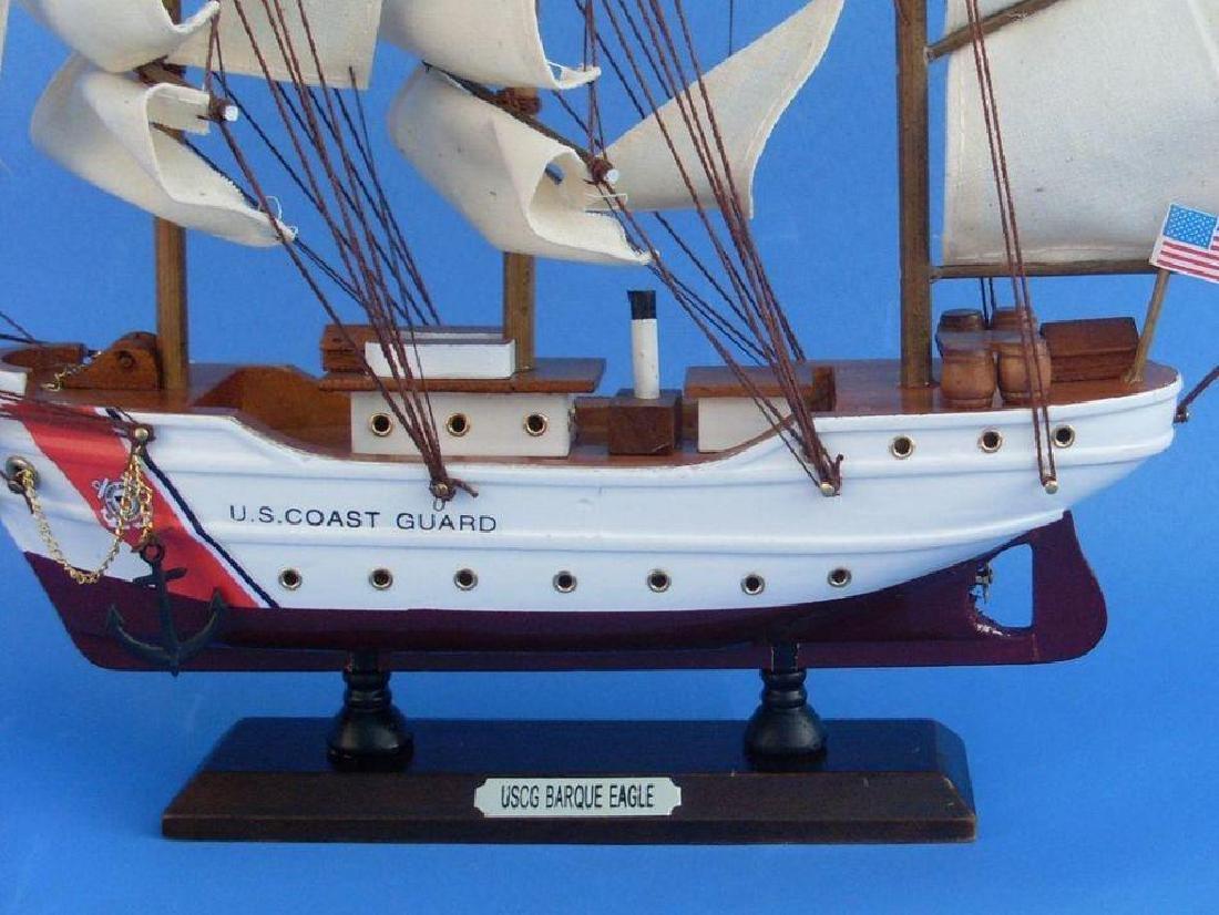 Wooden United States Coast Guard USCG Eagle Model Ship - 3