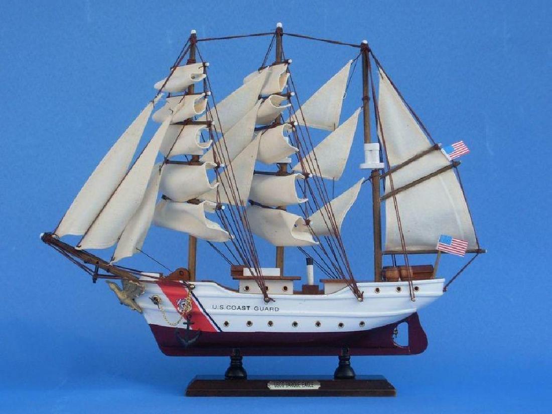 Wooden United States Coast Guard USCG Eagle Model Ship - 4