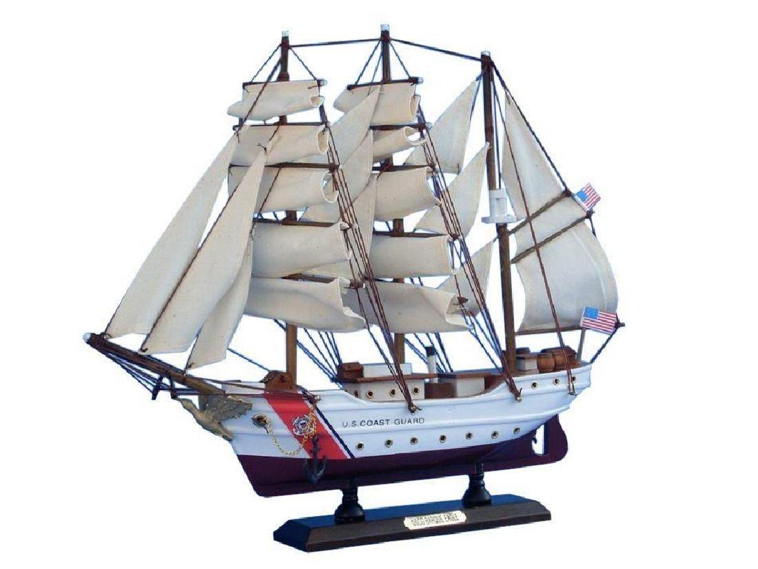 Wooden United States Coast Guard USCG Eagle Model Ship - 5