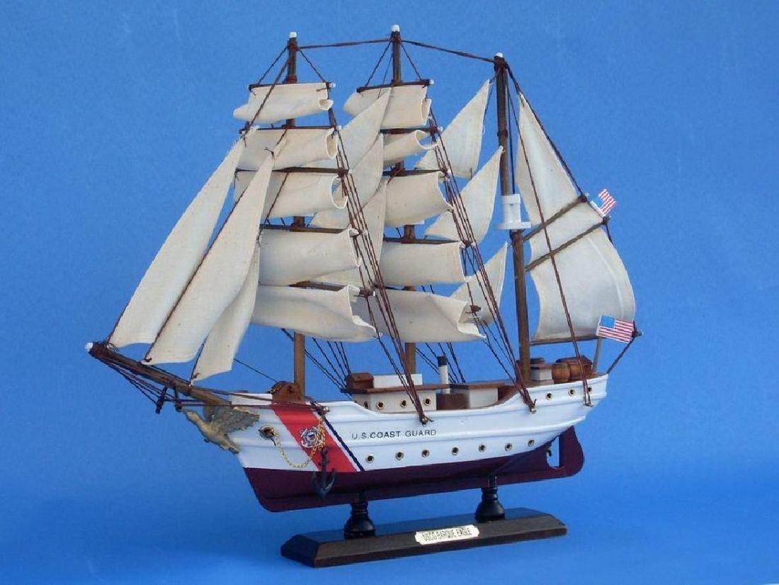 Wooden United States Coast Guard USCG Eagle Model Ship - 6