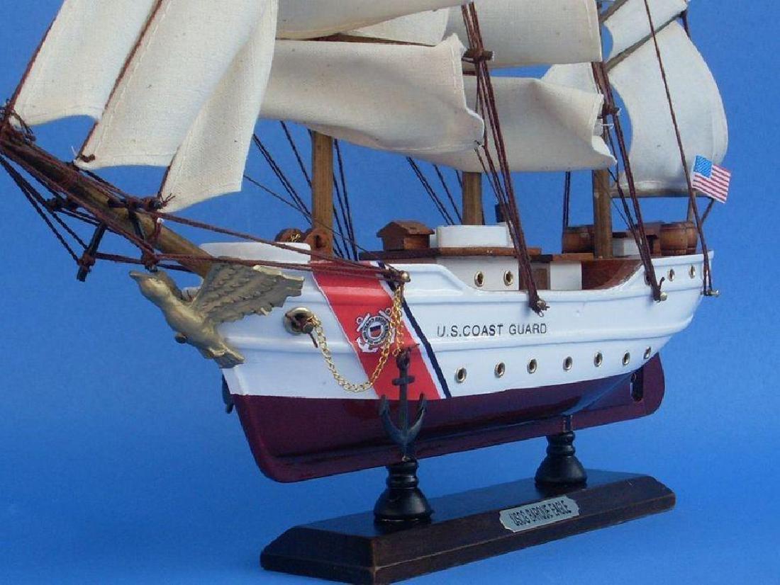 Wooden United States Coast Guard USCG Eagle Model Ship - 8