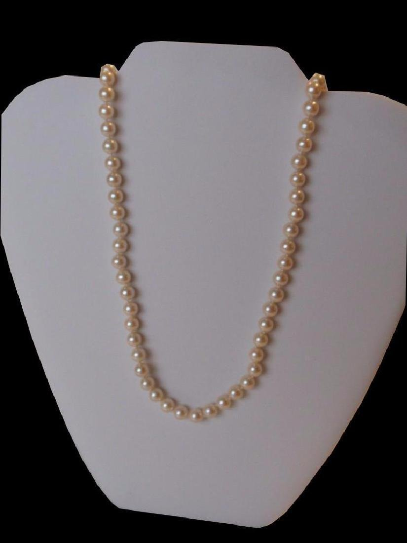 "30"" Cultura Oyster Shell Pearl  Necklace"