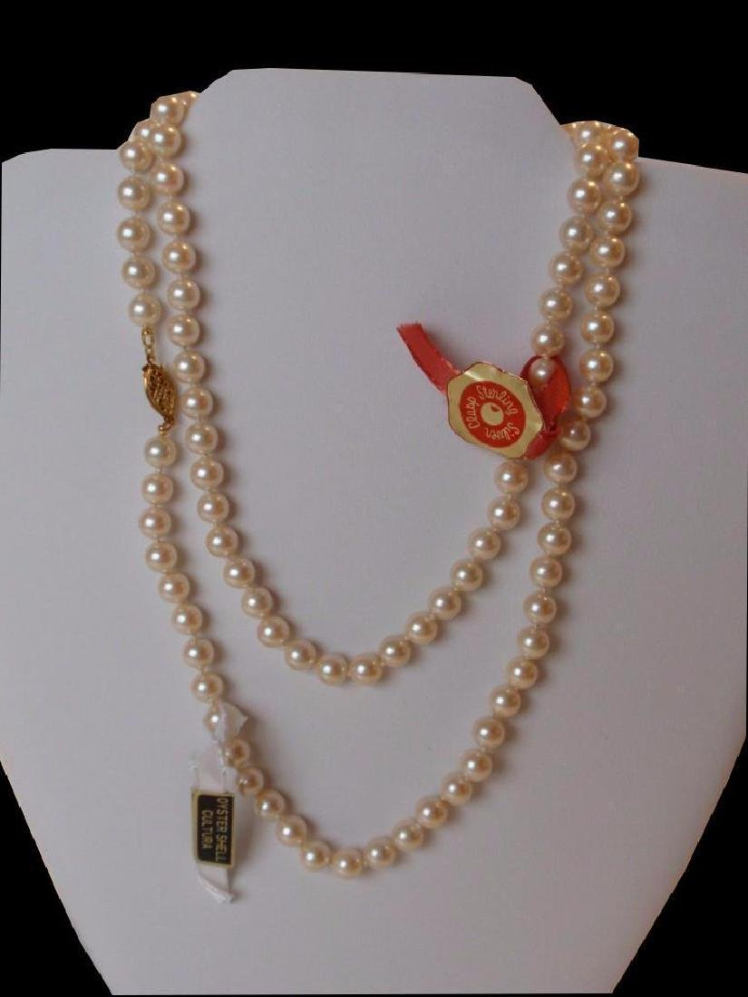 """30"""" Cultura Oyster Shell Pearl  Necklace - 2"""