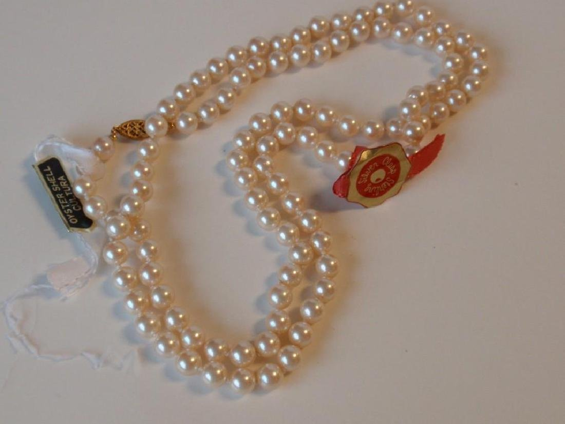 "30"" Cultura Oyster Shell Pearl  Necklace - 4"