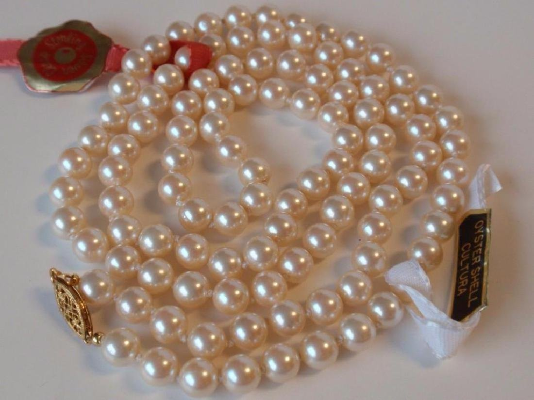 """30"""" Cultura Oyster Shell Pearl  Necklace - 5"""