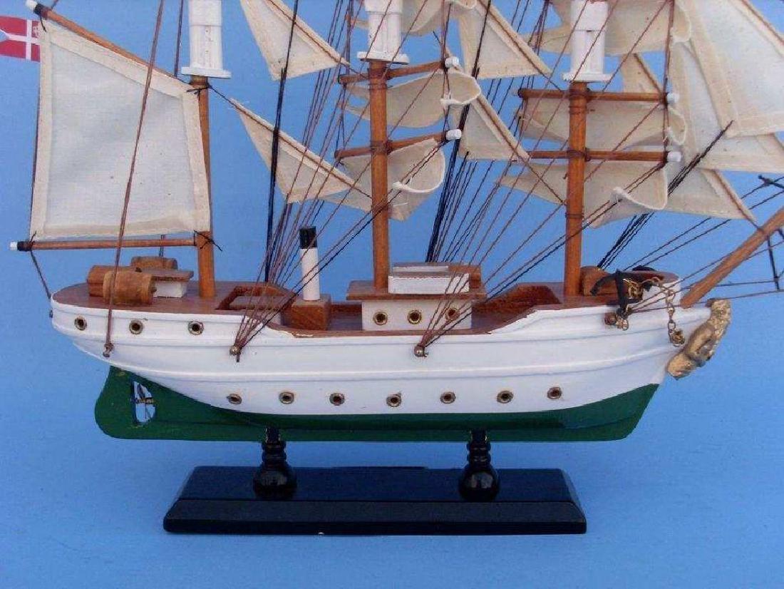 "Wooden Danmark Tall Model Ship 14"" - 5"