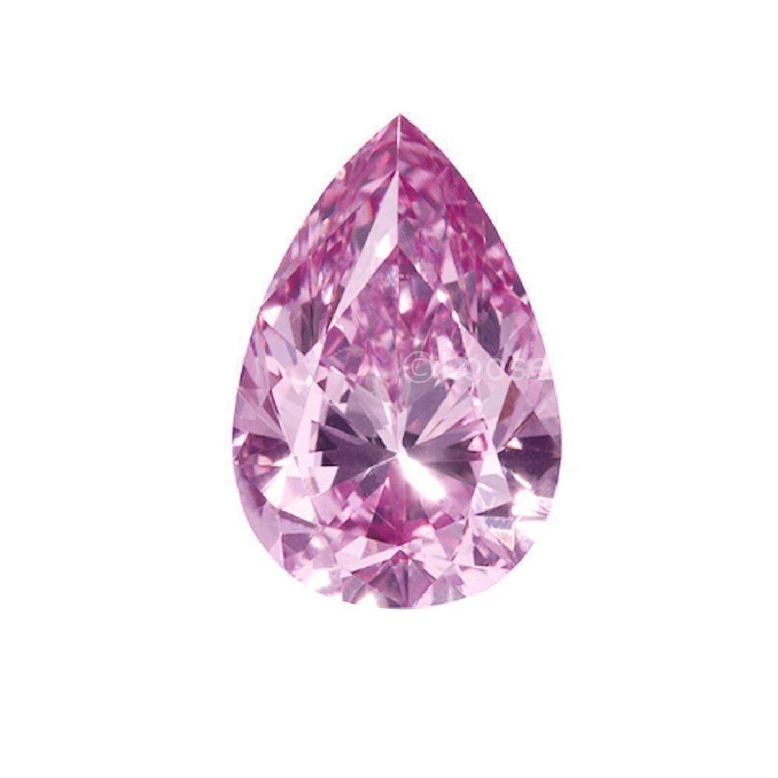 Fiery 5.00 ct 13.00 x 10.70 mm Pear Cut Fancy Pink