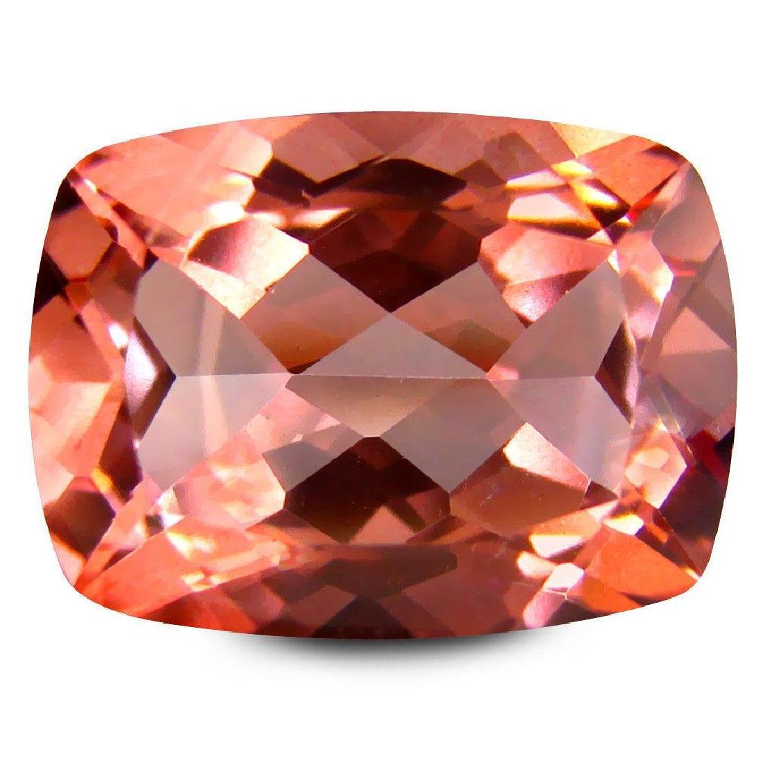 12.28 ct AAA+ Extraordinary Cushion (16 x 12 mm) Peach