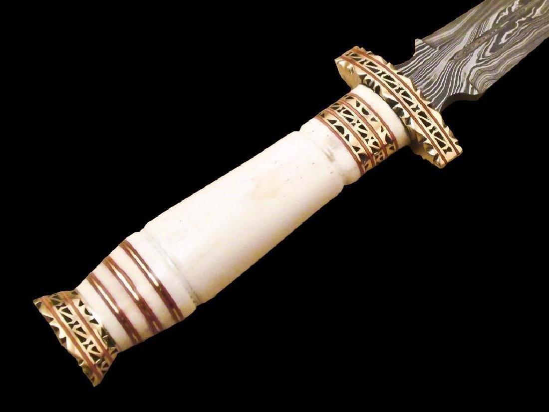 Beautiful Custom Handmade Damascus Steel Hunting Dagger - 2