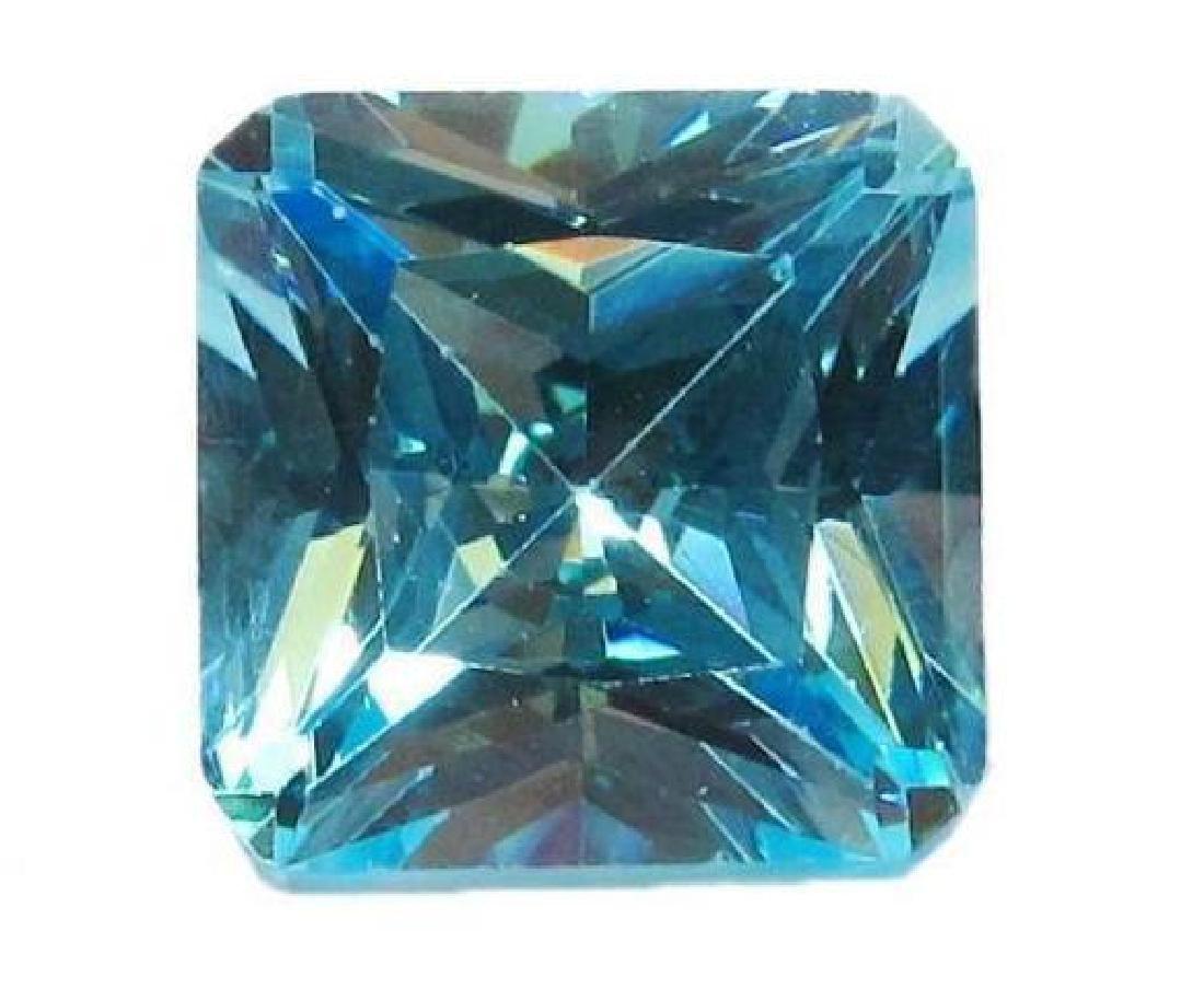 16 ctw Blue Princess Cut BIANCO Diamond