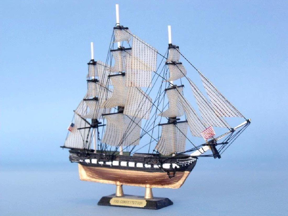 """USS Constitution Limited Tall Model Ship 7"""" - 4"""