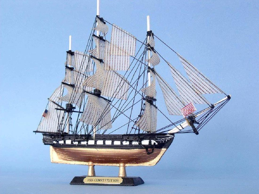 """USS Constitution Limited Tall Model Ship 7"""" - 8"""