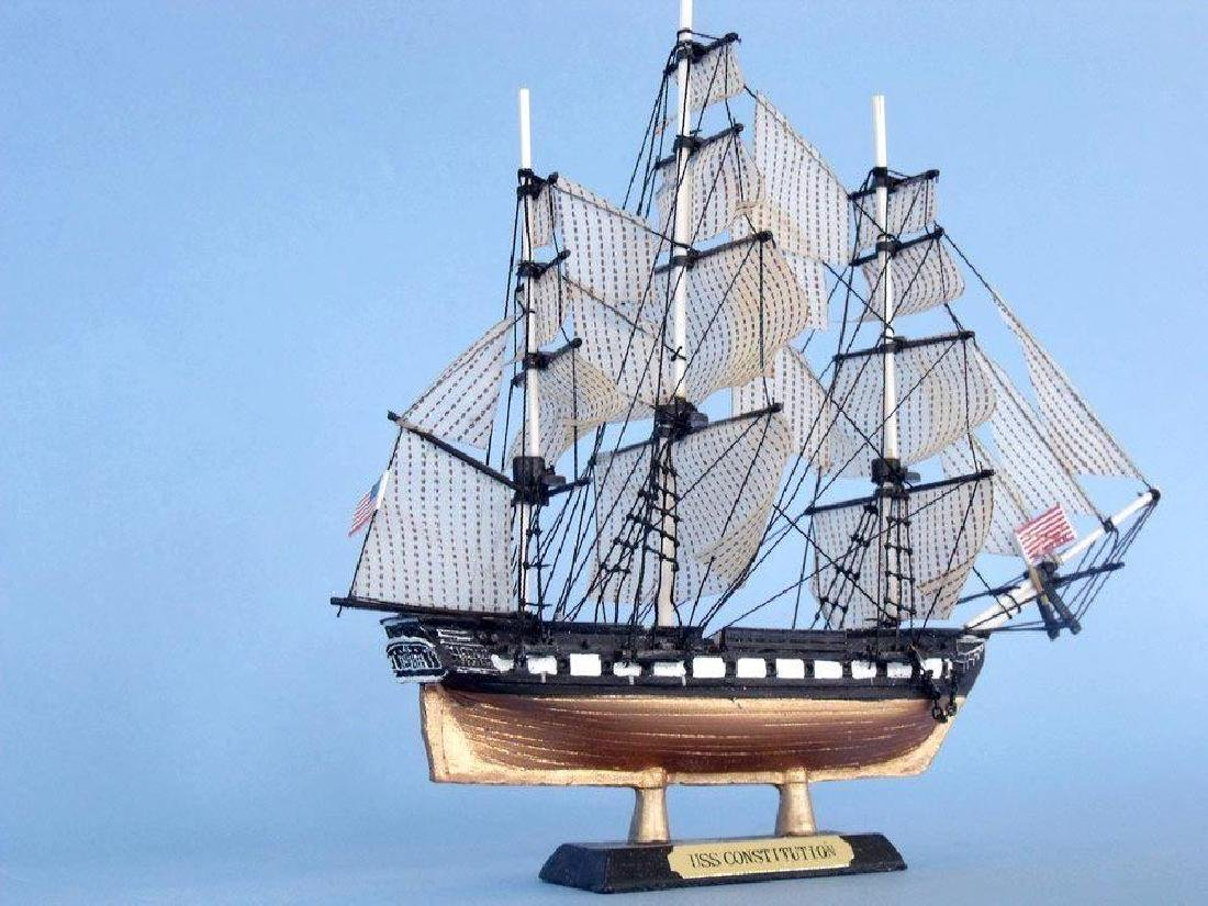 """USS Constitution Limited Tall Model Ship 7"""" - 9"""