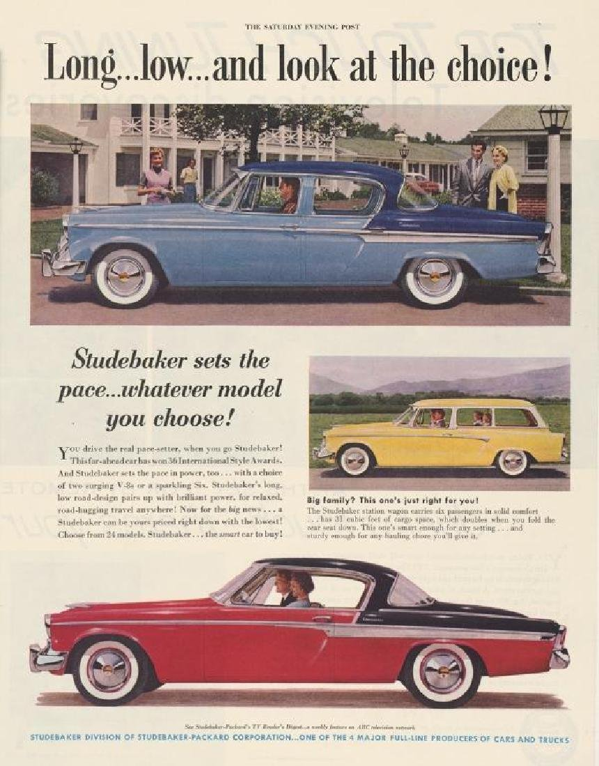 Three 1940's/ 1950's Original Studebaker Car Ads