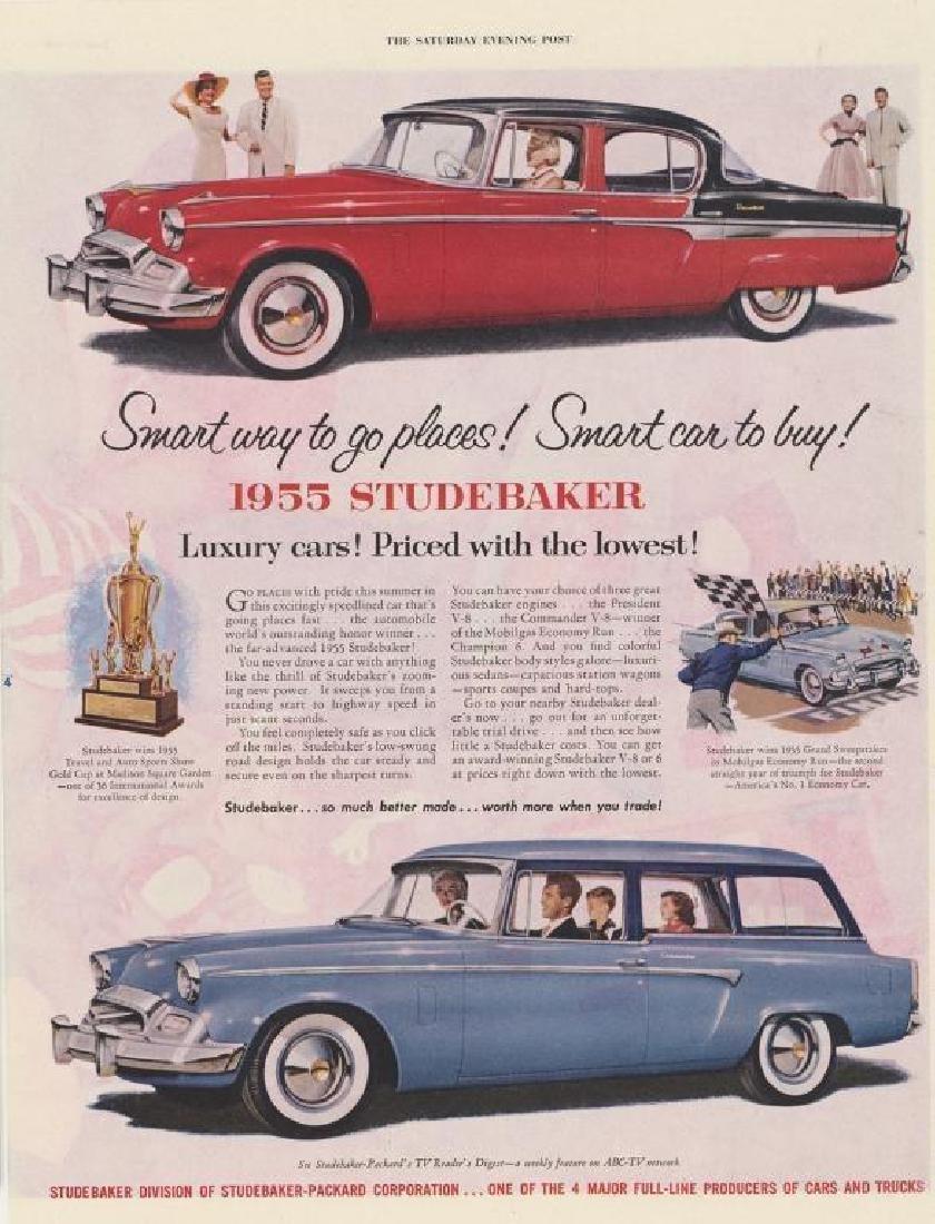 Three 1940's/ 1950's Original Studebaker Car Ads - 2