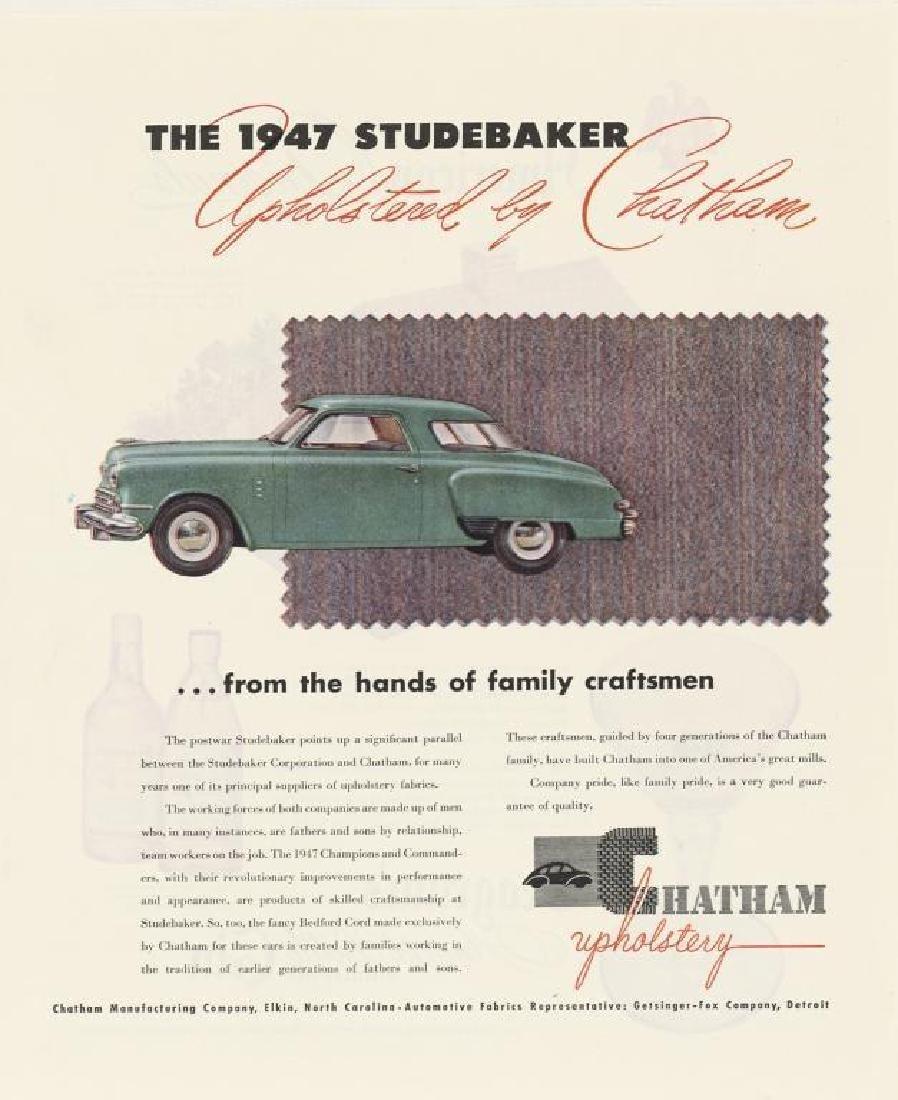 Three 1940's/ 1950's Original Studebaker Car Ads - 3