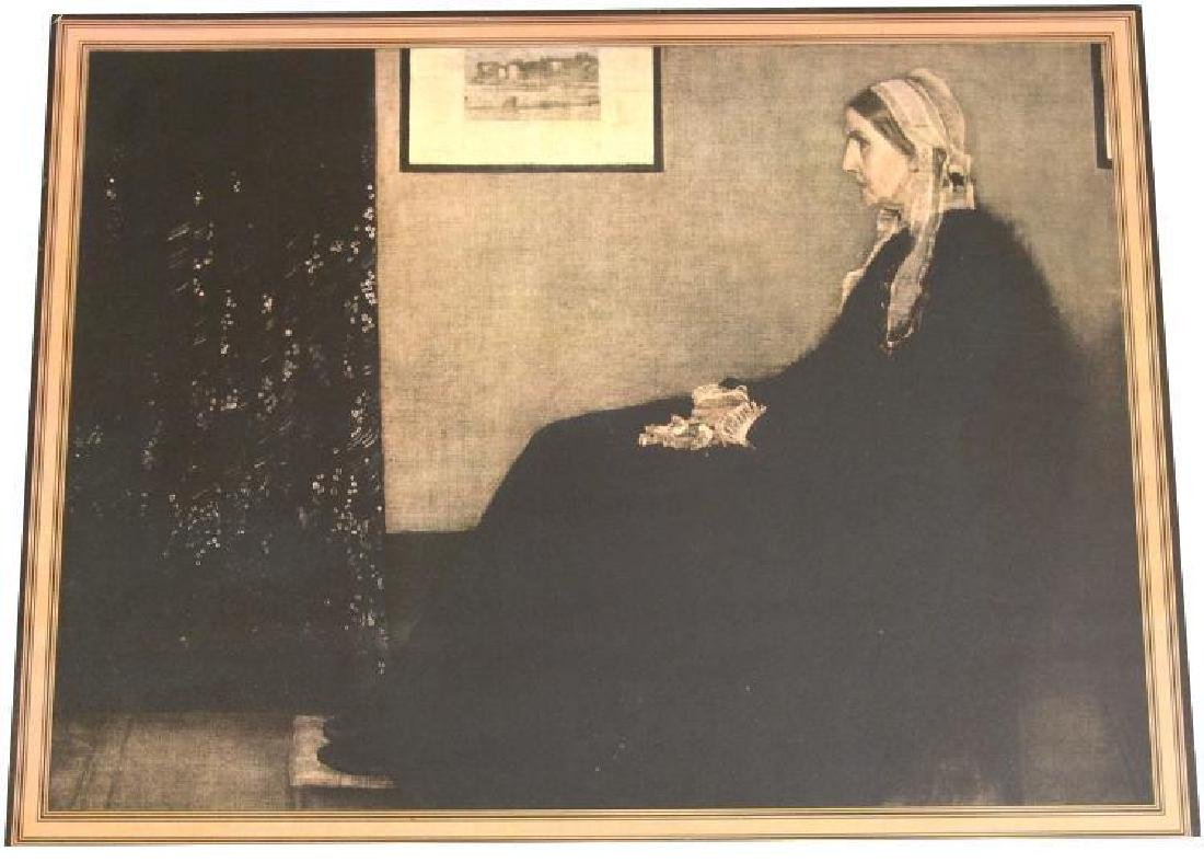 """1935 Framed Print """"My Mother"""" by Whistler"""