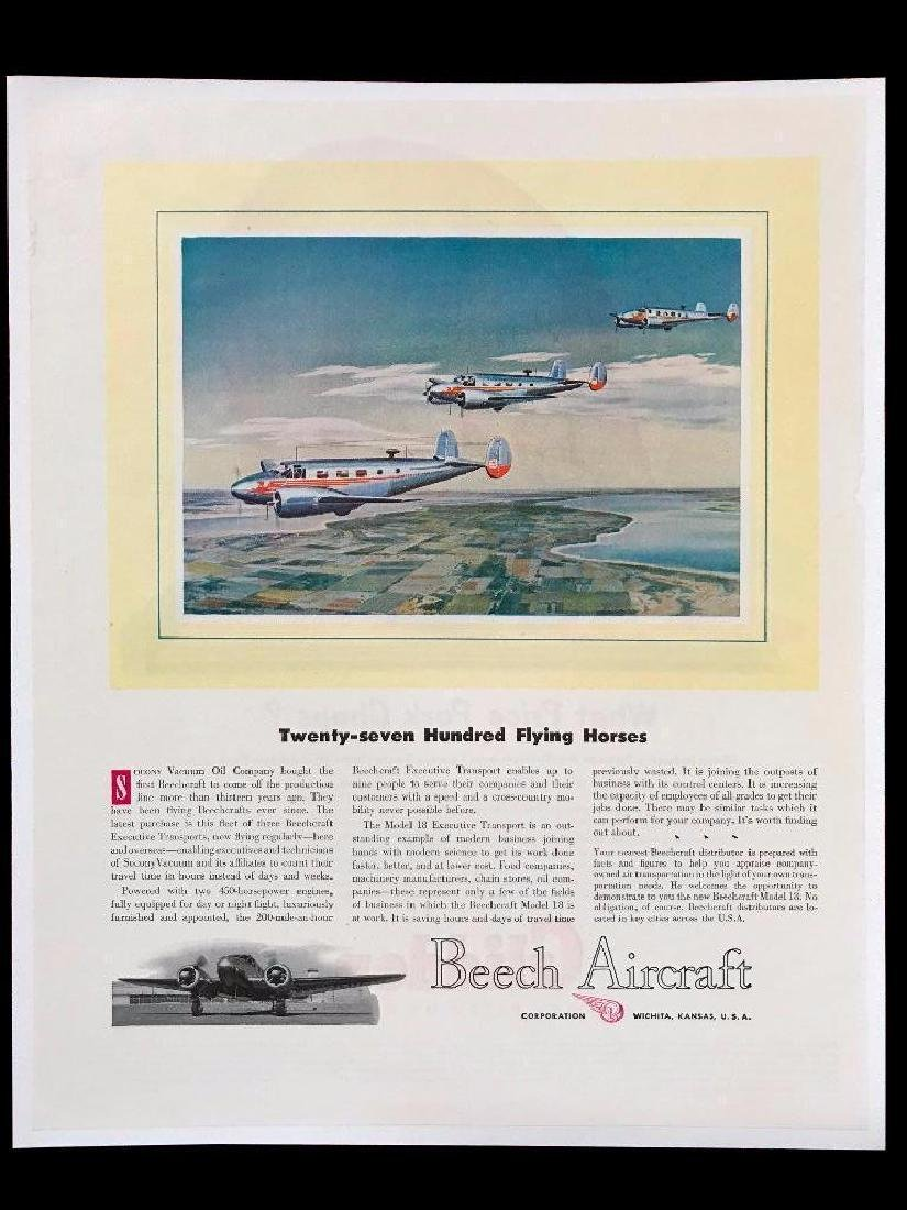 1947 Beech Aircraft Executive Transport Magazine Ad