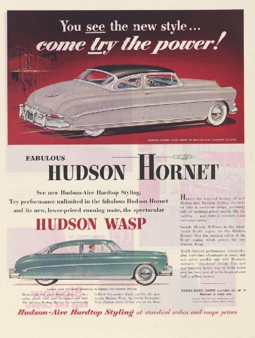 1952 Hudson Hornet & Wasp Advertisement