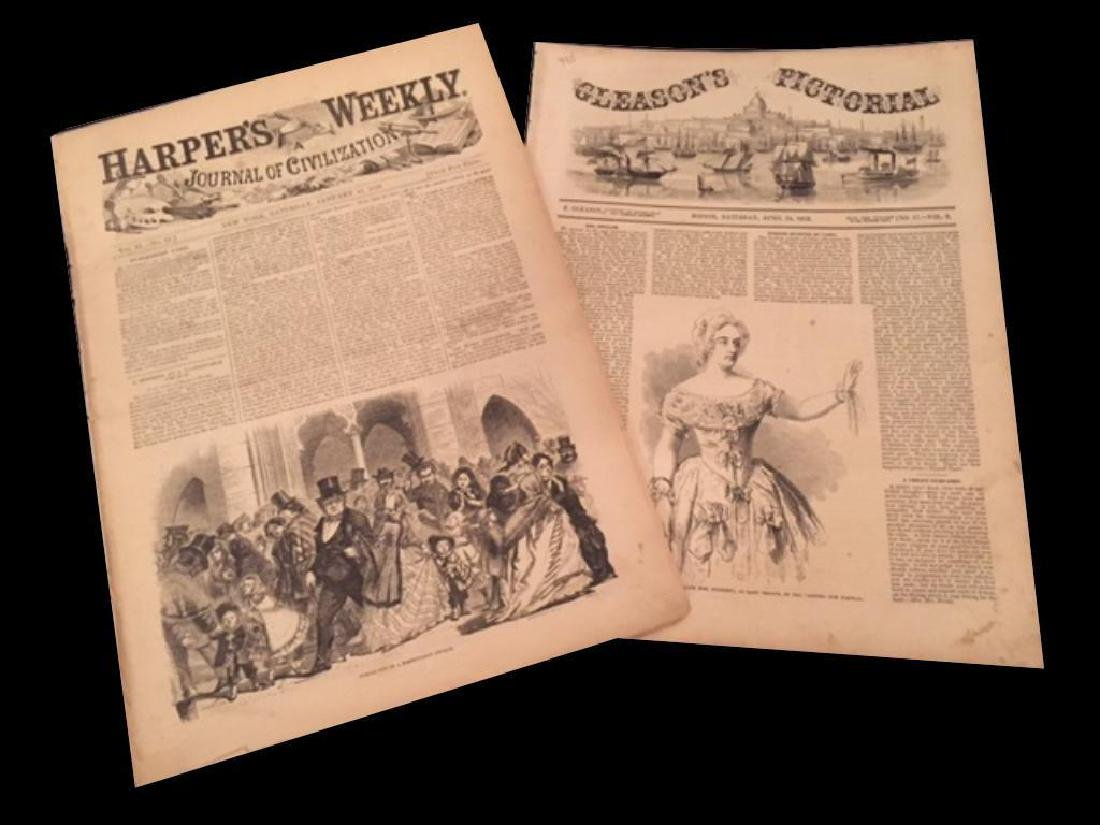 1850's Harper's Weekly & Gleason's Pictorial